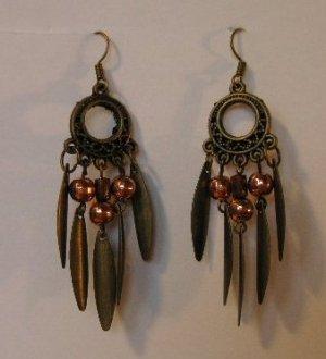 118(Inventory#) Brown Dangling Earrings
