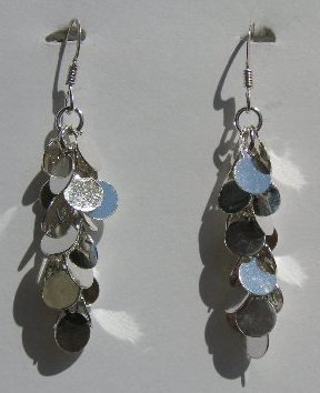 105(Inventory#) Custom design dangling earrings 100% silver