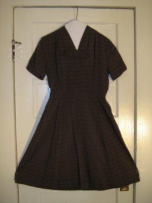 Brown Forties or Fifties Shirtwaist Dress Kerry Kent of Dallas