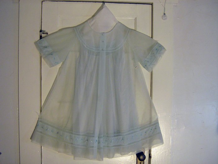 1950s Mint Chiffon Shadowline Nightgown and Robe