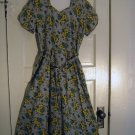 Adrian Tabin Cotton Summer Wrap Dress Vintage