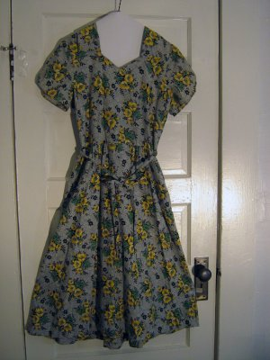 Adrian Tabin Cotton Summer Wrap Dress Vintage