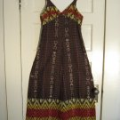 Groovy 1970s Empire-Waist A-Line Fall Maxi Dress