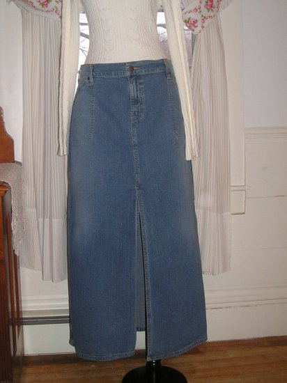 LEVI STRAUSS JEAN SKIRT TALL LONG LEVIS PLUS SIZE 18