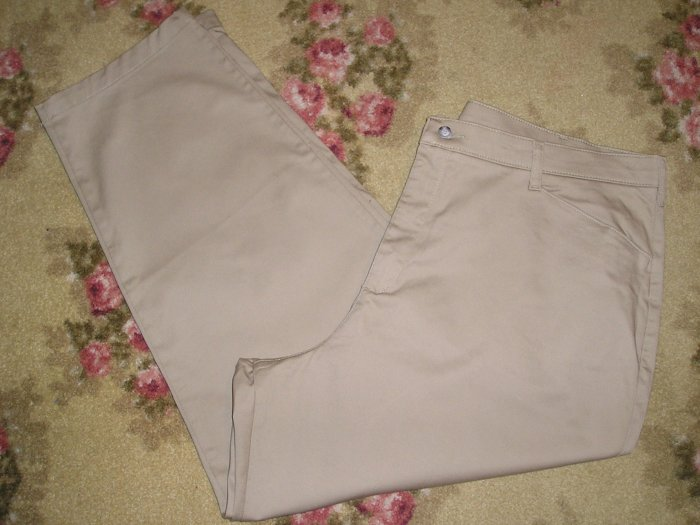 LEE PANTS KHAKI TAN PLUS BRAND NEW SIZE 24W 3X