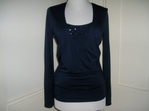 NEW YORK COMPANY SHIRT SIZE XS BEADED BLUE
