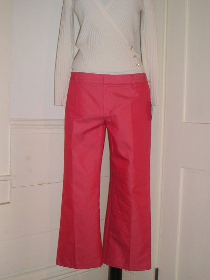 QUE PANTS SIZE 10 LOW RISE FLARE BOYS CUT  NWT $188