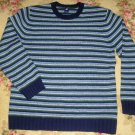 GAP SWEATER SIZE LARGE L STRIPED BLUE WOOL
