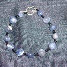 Blue Denim Gemstone Bracelet