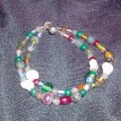 Two Strands of Assorted Glass Bead Bracelet