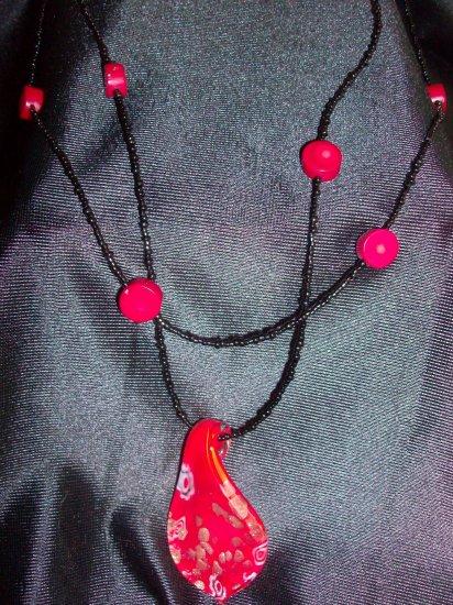 Glass Lampwork Pendant Necklace