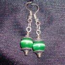 Emerald Tigers Eye Earrings