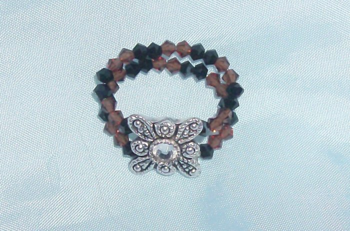 Brown/Black Swarovski Ring