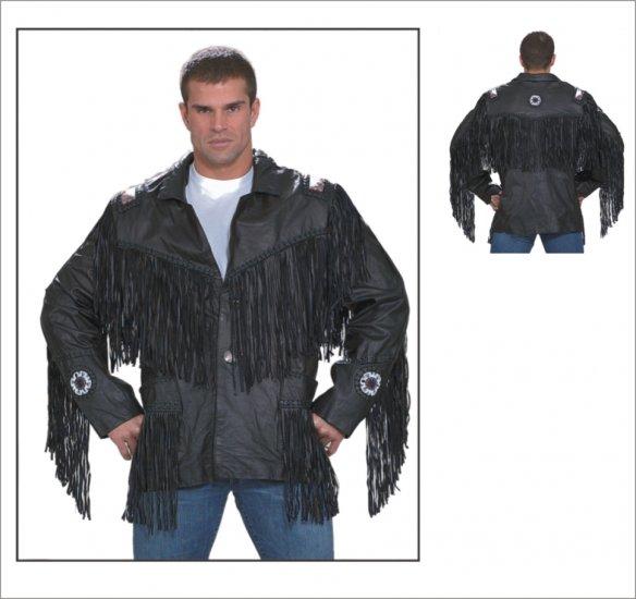 MCAARGMJ803 Mens Western Style Leather Jacket