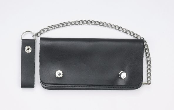 "MCAARGAC51 BLACK 8"" BI-FOLD  CHAIN WALLET"