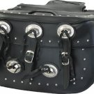 MCAARGSD4000-PVC   BIG  ZIP-OFF SADDLE BAG WITH CONCHOS