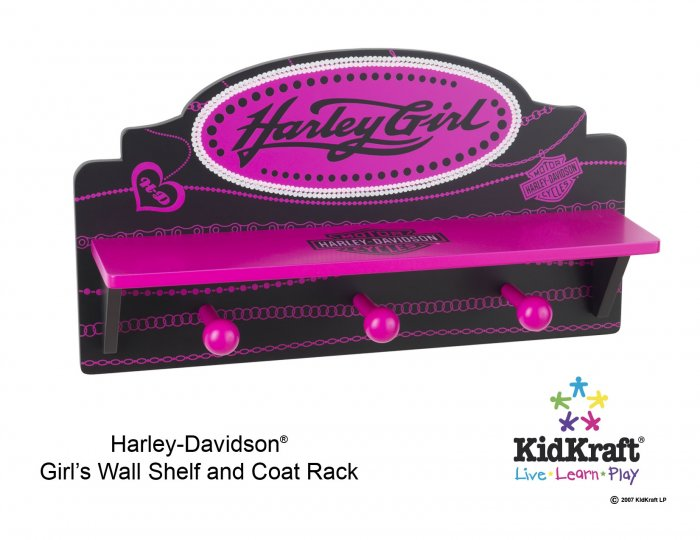 Harley Davidson Girls Wall Shelf Item # 10160