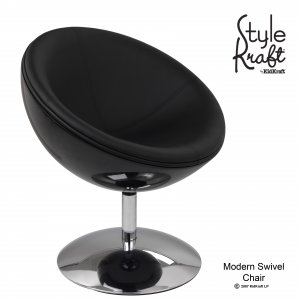Modern Swivel Chair - Black Item # 00220