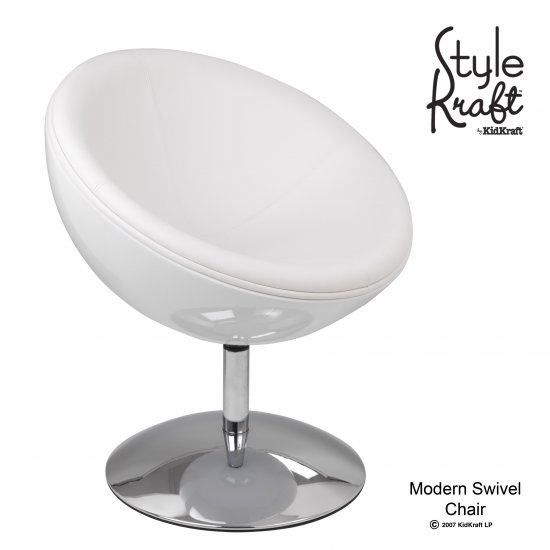 Modern Swivel Chair - White Item # 00221