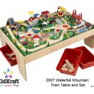 Natural Train Table w/3 bins & 120 pc Mountain Train Set Item # 17850