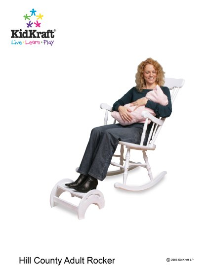 Hill Country Rocker (Adult Rocking Chair) - White Item # 18170