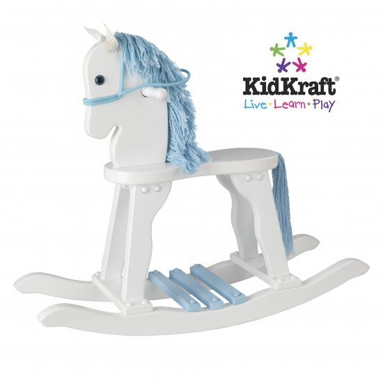 Derby Rocking Horse - White w/Sky Item # 19607