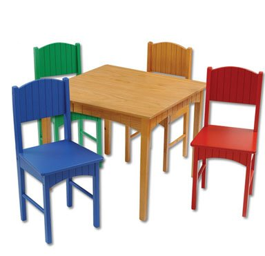 Nantucket Table & 4 Primary Chairs Item # 26121