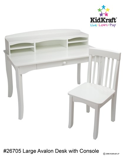 Avalon Desk with Hutch - White Item # 26705