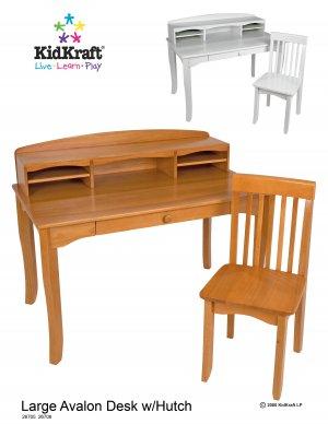 Avalon Desk with Hutch - Honey Item # 26706