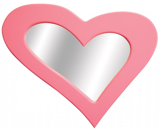Heart Mirror - Pink Item # LS-WM HEART PK