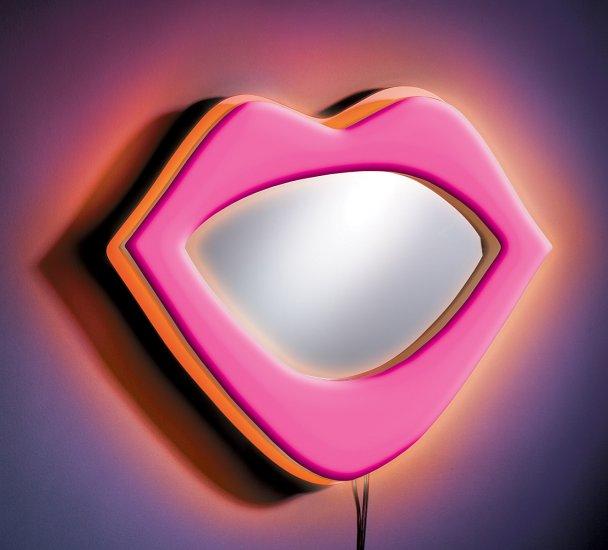 Neon Lips Wall Decor - Pink Item # WB-NWM LIPS-PK