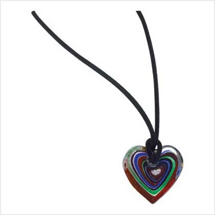 Heart's Delight Glass Necklace Item # 39123