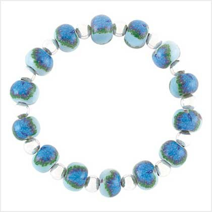 Handcrafted Peacock Bracelet Item # 39114