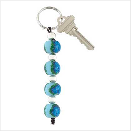 Handcrafted Peacock Keychain Item # 39116