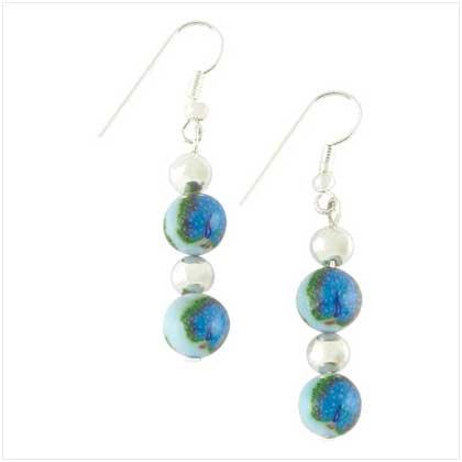Handcrafted Peacock Earrings Item # 39115