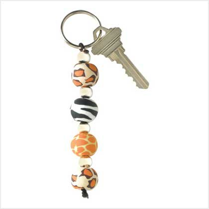 Safari Beaded Keychain Item # 39125