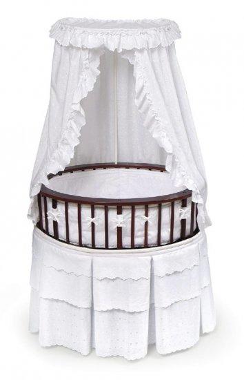 Cherry Elite� Oval Bassinet with White Eyelet Bedding Item # 00856