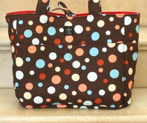 Chocolate Brown RETRO Dots Diaper Bag