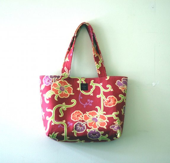 Mauve Floral Everyday Tote