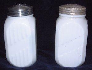PR White Milk Glass Vitrock Tall Fire King Shakers