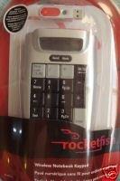 NEW Rocketfish Wireless Notebook Keypad & calculator
