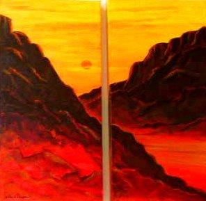 Canyon Caliente, diptyct