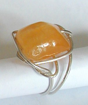 silver wrap lg citrin ring