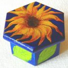 yellow sunflower jewelry box