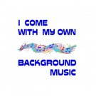 Background Music 2 1/4 Pin