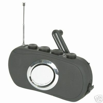 DYNAMO WIND UP WEATHERPROOF RADIO WITH LED TORCH