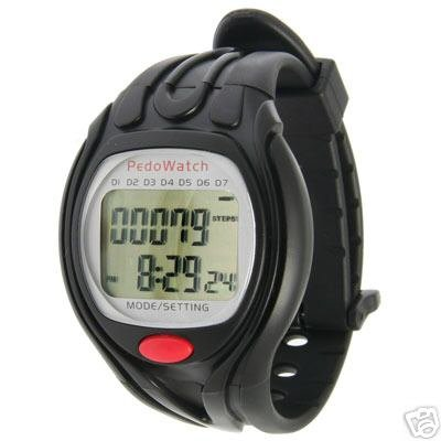 PEDOMETER DIGITAL WATCH W/ 7 DAY FITNESS DATA STORAGE