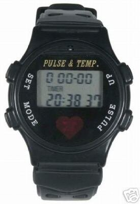 Digital Sports Watch Including Pulse and Temperature Monitor