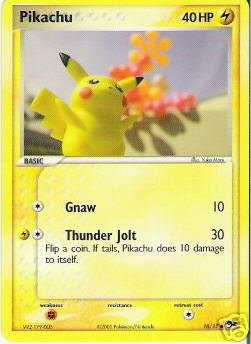 POP 2 RARE Pikachu Pokemon Promo Card 16/17 - HARD TO FIND - OUT OF PRINT - BRAND NEW - MINT -
