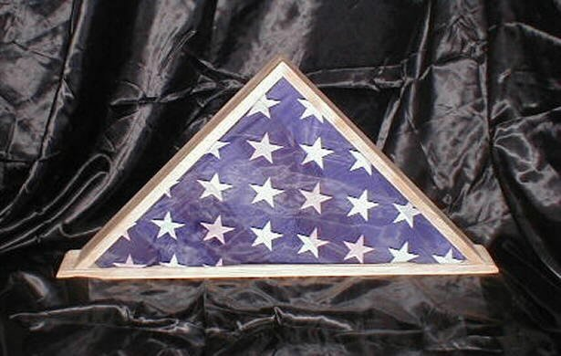 New Cherry 9 X 5 Burial Memorial Flag Display Case